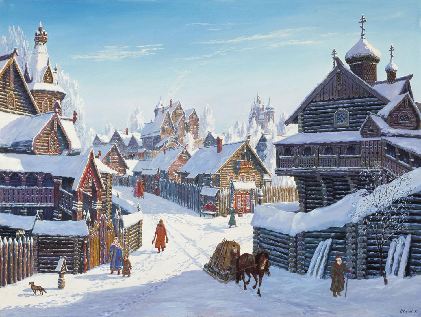 Красивые новогодние зимние картинки