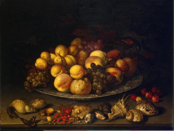 Ast Balthasar van der - Plate with Fruits &  Shells - GJ-3423[Hermitage]