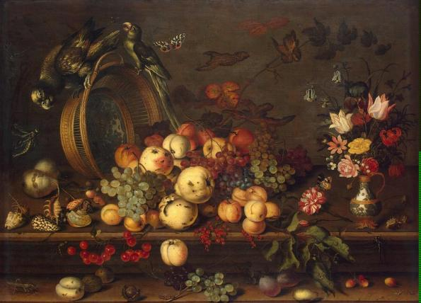 Ast Balthasar van der - Still Life with Fruits Shells &  Insects - GJ-8472[Hermitage]