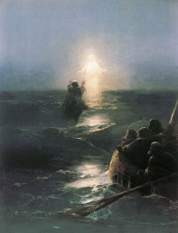 Gesù cammina sull'acqua