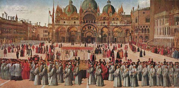 Processione in piazza San Marco (1496)