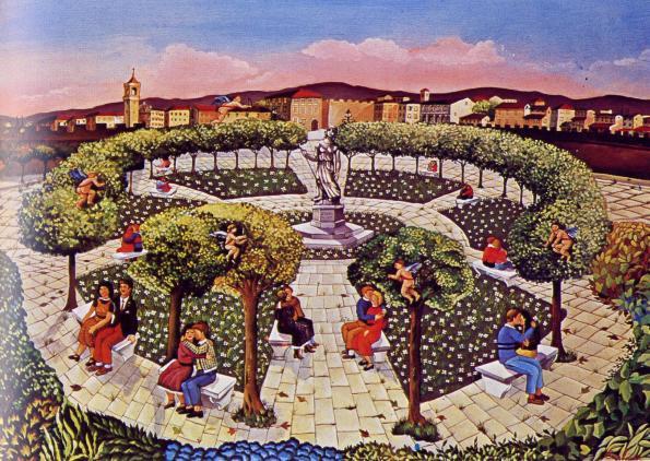 Giuliana Carlini-La Piazza degli Innamorati