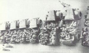 1950, Bologna: la Celere si appresta a sciogliere una manifestazione sindacale