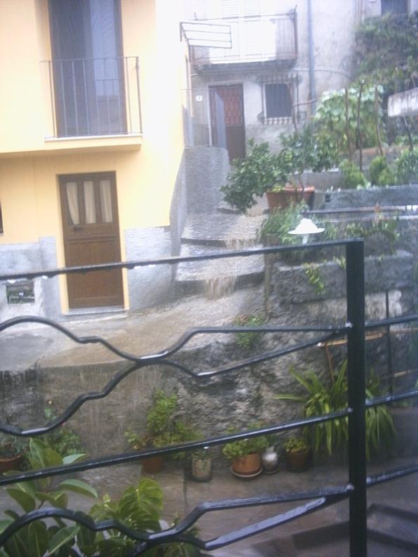 Ciò che si può vedere affacciandosi dal balcone di casa mia, dopo una breve pioggia.