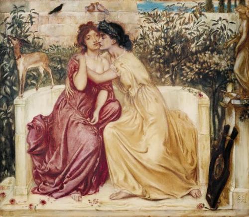 Saffo  e Erinna - dipinto di Simeon Solomon