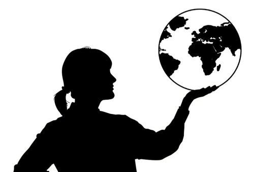 woman and world