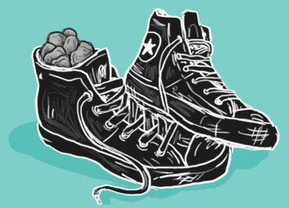 sassi nella scarpa