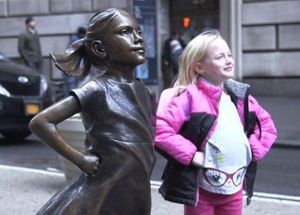 fearless girl with friend